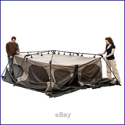 NEW! COLEMAN 8 Person Instant Tent 2 Rooms Waterproof Family Camping 14' x 8
