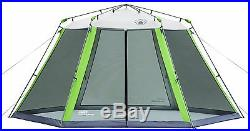 NEW! Coleman 15 x 13 Instant Screened Shelter Camping Tailgating Shade Tent