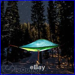 NEW TENTSILE STINGRAY 3-PERSON TREE HOUSE HAMMOCK TENT FRESH GREEN FLY with LADDER