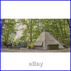 NEW Weatherproof Guide Gear Family Teepee Tent 18 x 18 Sleeps 8 People + Gear