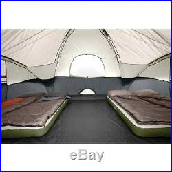 New Family Camping Tent 3 Separate Rooms Travel Coleman Black Canyon 8 Person