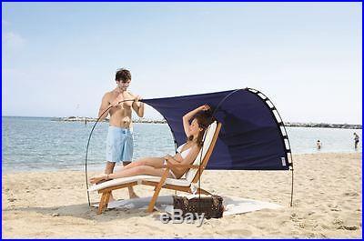 New Skincom Premium UV Adjustable Shade/Picnic Shelter Solar Beach Tent Navy