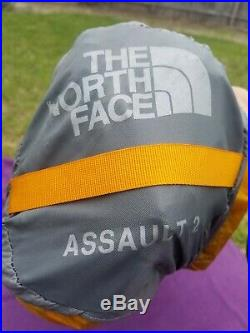 North Face Assault 2 Tent Orange Summit Series 2 Person, 4 Season Rain Vestibule