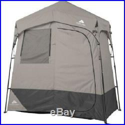 OZARK TRAIL 2-ROOM CAMPING Instant Shower/Utility Shelter, Outdoor Privacy Tent