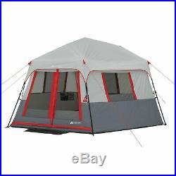 OZARK TRAIL 8 PERSON INSTANT HEXAGON CABIN TENT With LED LIGHT