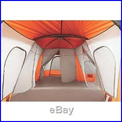 Orange 14 Person Cabin Tent 4 Room Camp Camping Family Large Outdoor Base Camp