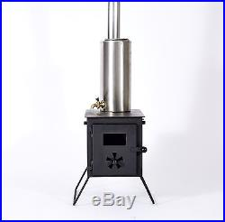 Outbacker Firebox Wood Burning Stove & Water Boiler Package + Free Carry Bag