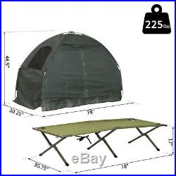 Outdoor 1-person Folding Tent Elevated Camping Cot
