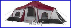 Outdoor Camping Tent 20'x10' Cabin XL 3-Room 10-Person Tent Ozark Trail