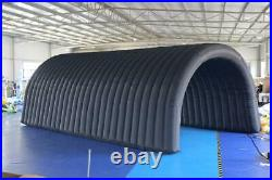 Outdoor Inflatable Tunnel Sport Tunnel Entrance Inflatable Tent for Event(Black)