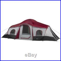 Outdoor Tent 10 Person 3 Room Cabin Camping Shelter Family Hunting Hiking NEW