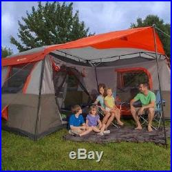 Outdoor camping family Ozark Trail 12 Person 3 Room L-Shaped Instant Cabin Tent