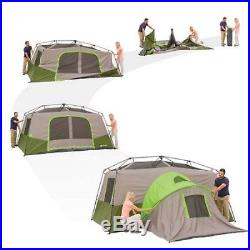 Ozark Trail 10 Person 2 Room Instant Cabin Family Camping Tent with Private Room