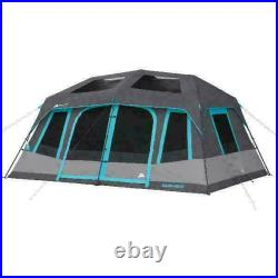 Ozark Trail 10 Person 2 Room Instant Cabin Tent Gray (WMT141078D), BRAND NEW