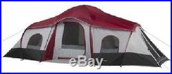 Ozark Trail 10 Person 3-room Instant Cabin Tent New Large Roomy Camping Outdoor