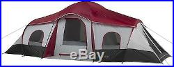 Ozark Trail 10 Person Instant Cabin Camping Tent Large 3 Room Easy Setup Outdoor