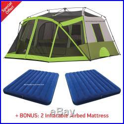 Ozark Trail 10 Person Instant Cabin Tent Family 2 Room