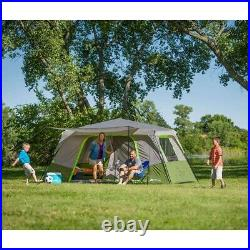 Ozark Trail 11-Person Instant Cabin Tent with Private Room Green
