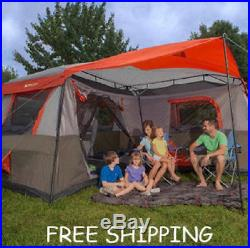 Ozark Trail 12 Person 3 Room Instant Cabin Tent Easy Setup Family Camping