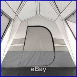Ozark Trail 15-Person Split Plan Instant Cabin Easy Setup 3 Room Camping Tent
