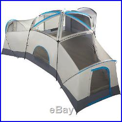Ozark Trail 16 Person Large Family Tent 3 Cabin Room Base Camping Hiking Outdoor