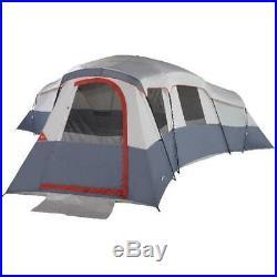Ozark Trail 20-Person 4-Room Cabin Tent 3 Entrances Fits 6 Queen Air Mattresses