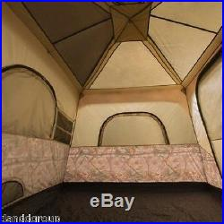 Ozark Trail 8 Person 2 Room Instant Cabin Tent Large Outdoor Camping Realtree