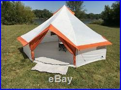 Ozark Trail 8 Person Large Yurt Tent Outdoor Family Hiking Fast Setup Camping