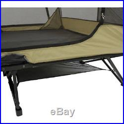 Ozark Trail Two-Person Padded Cot Tent Sleeping Outdoor Camping Gear Loft Hiking