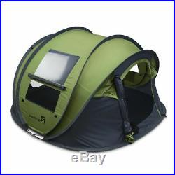 Peaktop 4 Person Instant Pop up Camping Tent Hiking Backpack 4000mm Waterproof