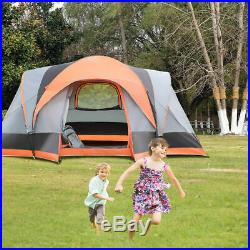 Portable 8 Person Automatic Pop Up Family Tent Easy Set-up Camping Hiking With Bag