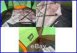 REI Hobitat 4 Cabin Tent + extra vestibule + footprint Family Cabin car camping