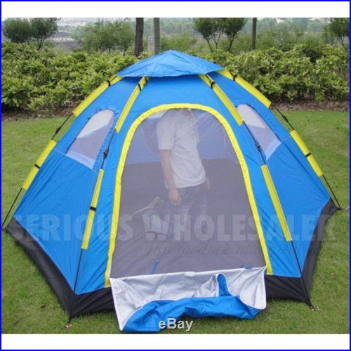 SALE Outdoor Large 6 Person Hiking Camping Automatic Instant Pop up Family Tent