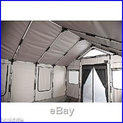 Safari Cabin Tent Large Outdoor Survival Shelter 8 Person Camping House 120sq Ft