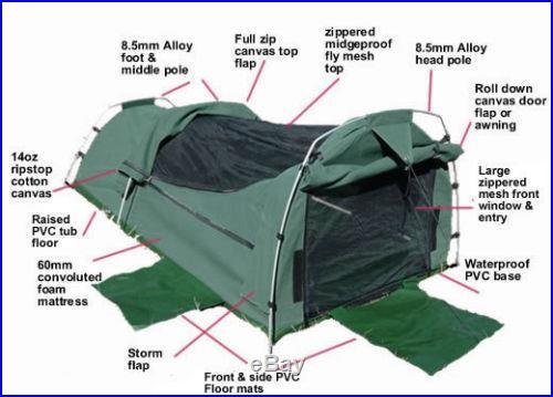 Sahara Nomad PINK King Single Dome Canvas Swag & Bag