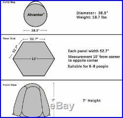 Screen House Tent Canopy Outdoor Mesh Bug Sun Shade Zipper Door Camping 10'x10