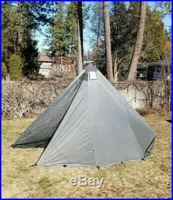 Seek Outside 8 Person Tipi Tent / San Juan Silver with Extra Large Stove