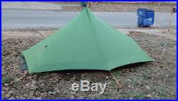 Six Moon Designs Lunar Solo Tent, Seam Sealed, Ultralight 1 Person, Silnylon