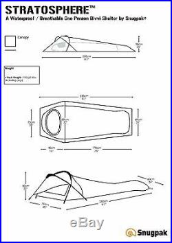 Snugpak STRATOSPHERE Lightweight, One Man Bivvi / Tent with Compression Sack