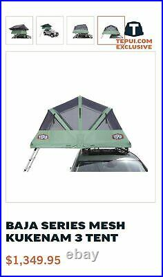 TEPUI Kukenam 3 BAJA MESH CANOPY Car ROOF TOP Tent with RAIN FLY NO BASE/LADDER