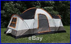 Tahoe Gear Olympia 10 Person Three Season Family Camping Tent Orange (Open Box)