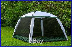 Tahoe Gear Pine Creek Screen House Outdoor Picnic Shelter, White and Green