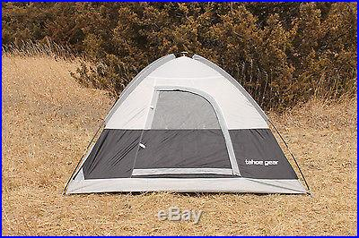 Tahoe Gear Powell 3 Person 3-Season Family Dome Camping Tent Black/Grey