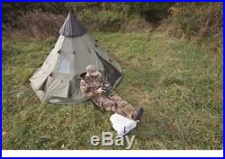 Teepee Tent 10 x 10 Family 6 Person Camping Outdoor Guide Gear Trail Camp Scouts