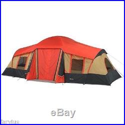 Tent 10 Person 3 Room Cabin Camping Shelter Dome Family Hunting Gear Hiking NEW