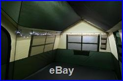 Tent 12 Person Family House Tent Camping Vacation Two strings of LED lights
