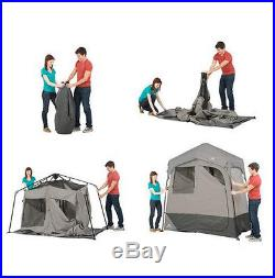 Tent Canopy Solar Heated Shower Awning 2 Room Changing Outdoor Shelter Camping