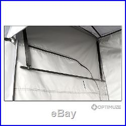 Tent Canopy Solar Heated Shower Changing Awning 2-Room Outdoor Camping Shelter