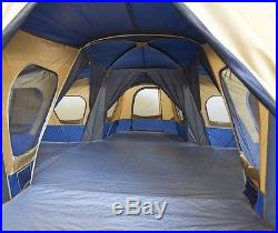 Tent Large Family 3 Room Cabin Tents Multi Rooms Camping 14 Person Outdoor NEW