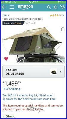 Tepui Explorer Kukenam 3 Person Car Rooftop Camping Tent